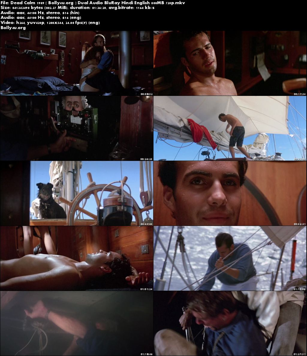 Dead Calm 1989 BluRay 800Mb Hindi Dual Audio 720p Download