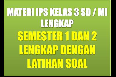 Materi Pelajaran IPS SD Kelas 3 Semester 1/2