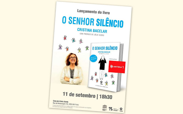 Cristina Bacelar apresenta o livro - O Senhor Silêncio (Livro + CD)