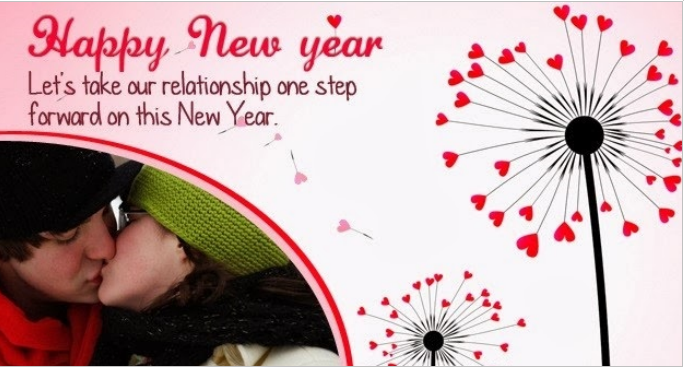 Happy New Year . Let's take our relationship one step forward On this New Year!