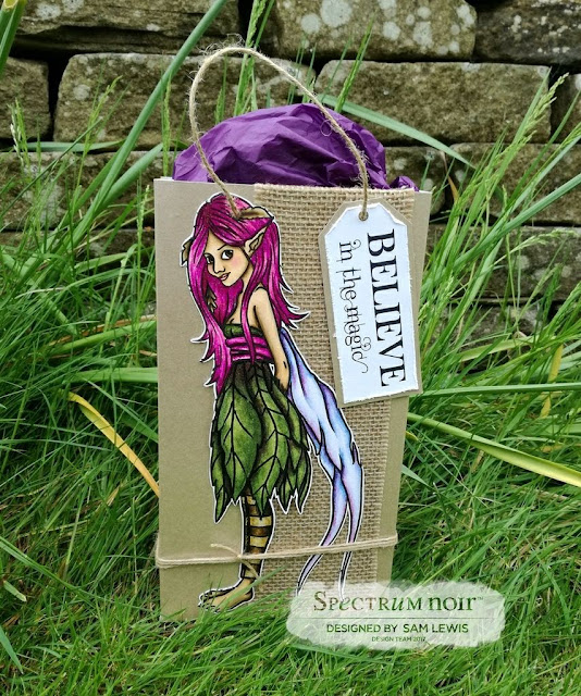 Fairy Gift Bag by Sam Lewis AKA The Crippled Crafter. Features the Colorista Marker Pad - Enchanted Forest