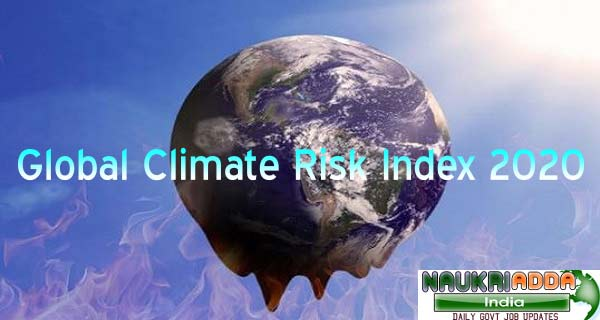 Global Climate Risk Index 2020 List