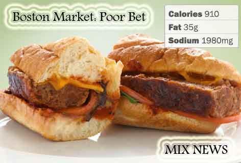 Diet,debris,wors,double grip,sandwiches,Boston Market: Poor Bet , Diet debris and worst double grip sandwiches