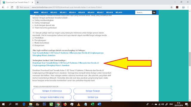Tutorial Cara Download Soal di Website Bimbel Brilian Dengan Mudah