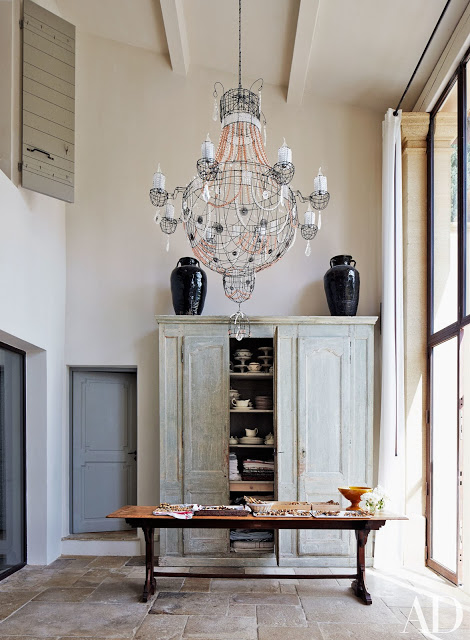 Interior of French Country Home in Provence of Frederick Fekkai seen on Hello Lovely Studio