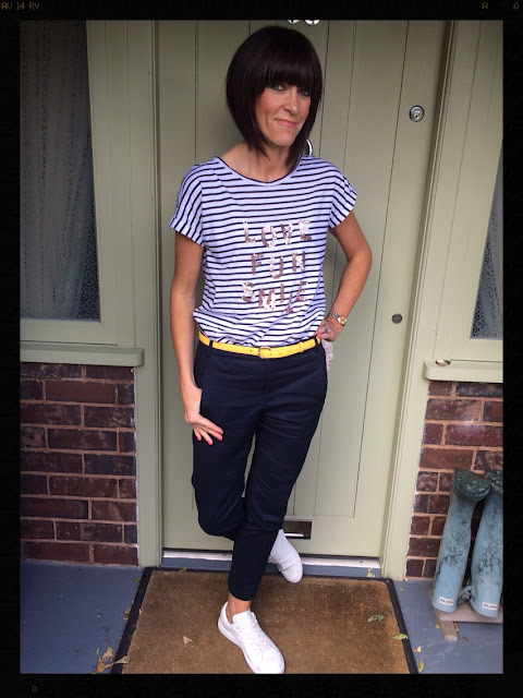 My Midlife Fashion, Stripe, Sequins, Breton, Trainers, Marks and Spencer, Mango, Banana Republic, Zara
