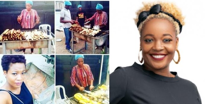 BBNaija2020: Nigerians hail Lucy as photos of her selling roasted plantain goes viral