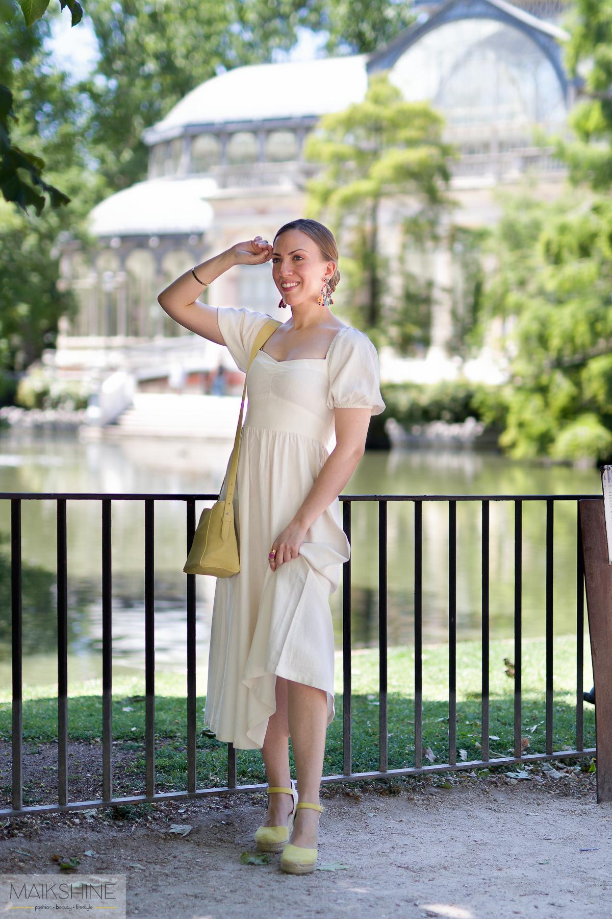 outfit vestido lino