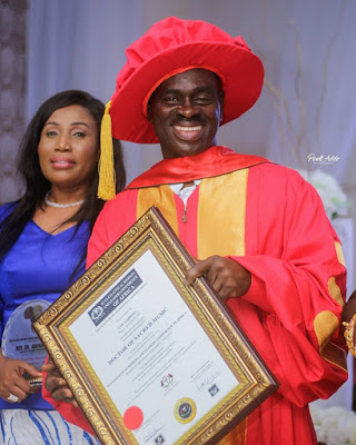 Veteran gospel singer, Yaw Sarpong gets an honorary doctorate degree
