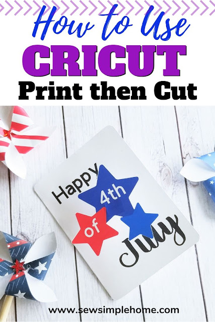 How to use Cricut Print Then Cut feature plus free cut file