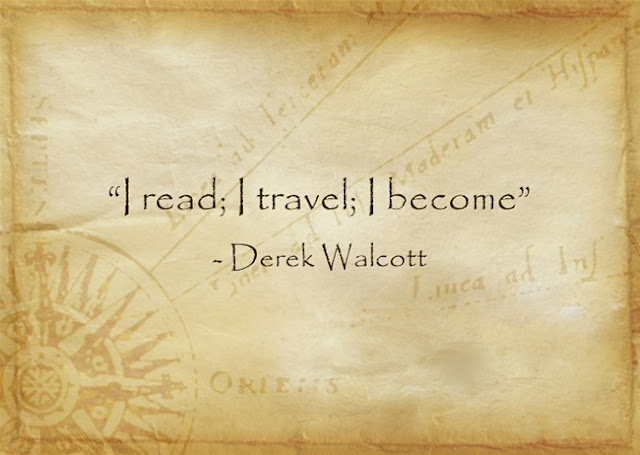 Derek Walcott quote about travel
