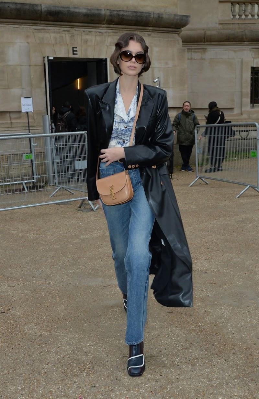 Kaia Jordan Gerber Leaves Chloe Show at Paris Fashion Week 27 Feb-2020