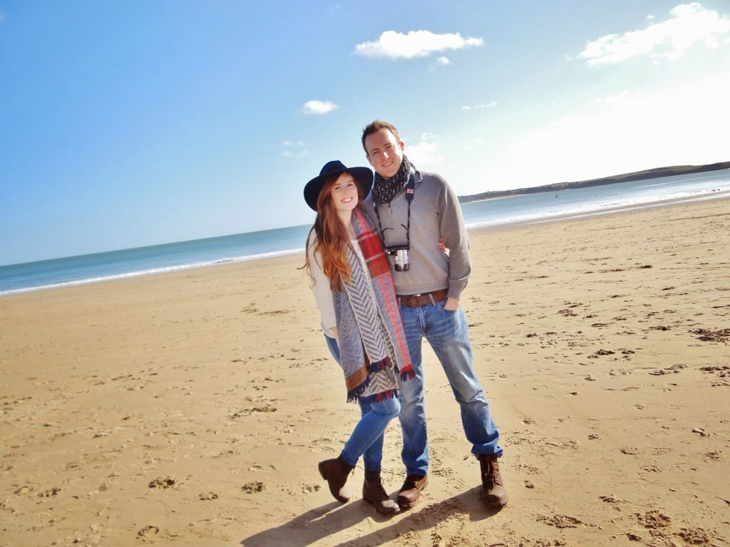 couple beach tenby wales