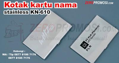 Souvenir Kotak kartu nama stainless KN-610, tempat kartu stainless, business card holder, bisnis card holder, Card Holder Tempat Kartu Nama Stainless, wadah kartu nama