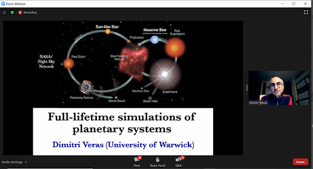 Full-lifetime simulation of planets (Source: Dimitri Veras, Exoplanets Demographics 2020 meeting)