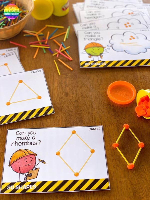 2D Shape STEM Challenge Cards | you clever monkey