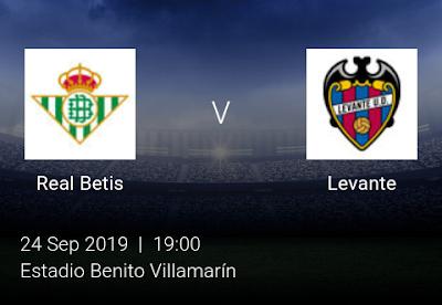 LIVE MATCH: Real Betis Vs Levante Spanish LaLiga 24/09/2019