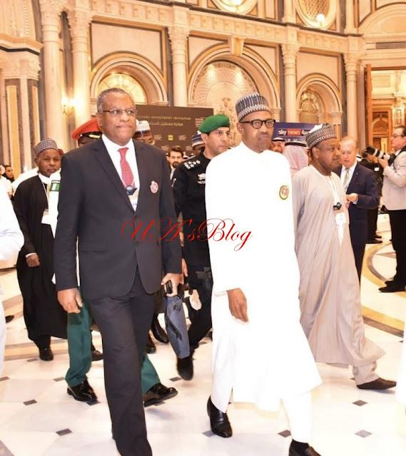 Buhari Takes His Son To Saudi Arabia For Summit (Photos)