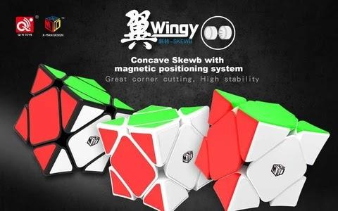 Review rubik Skewb X-Man Wingy Magnetic (Concave) yang digunakan Andrew Huang untuk memecahkan rekor dunia