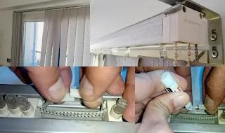 كيفيه اصلاح ستائر الشرائح . تصليح الستائر