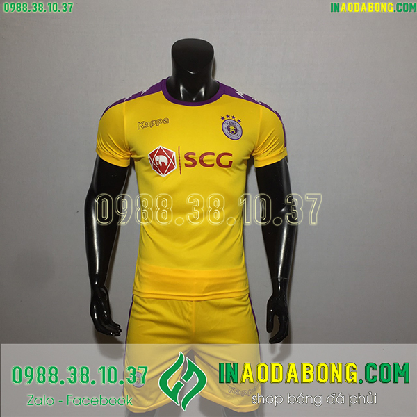 Áo bóng đá câu lạc bộ Hà Nội 2020 màu vàng