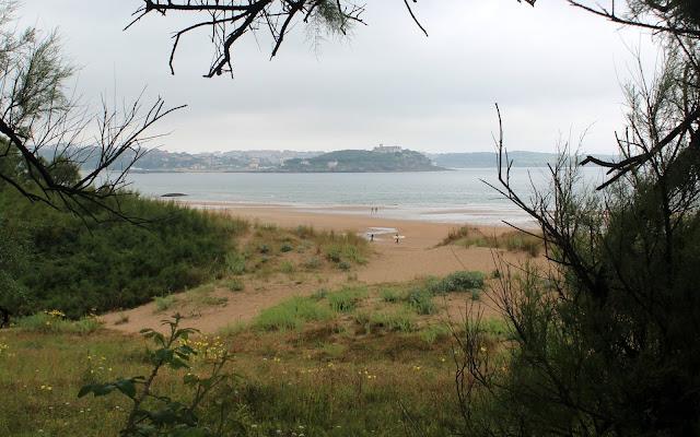 Vistas de Santander desde el monte de Arna en Somo. Ribamontán al Mar. Cantabria