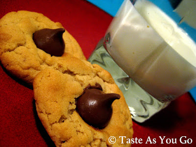 Chunky Peanut Butter Cookies and Milk - Photo by Michelle Judd of Taste As You Go