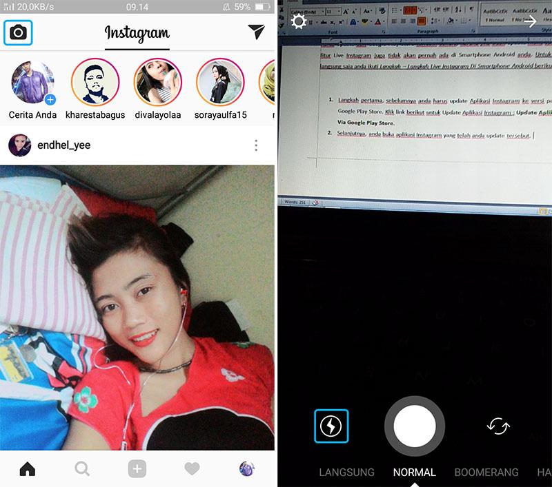 Cara Live Instagram Siaran Langsung Di Hp Android Informasi