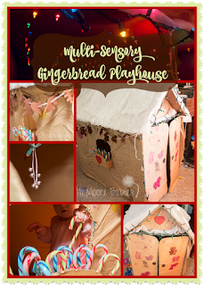 How to Make a Gingerbread Play House for Sensory Play