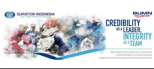 Lowongan Pekerjaan BUMN PT. Surveyor Indonesia Untuk 8 Posisi