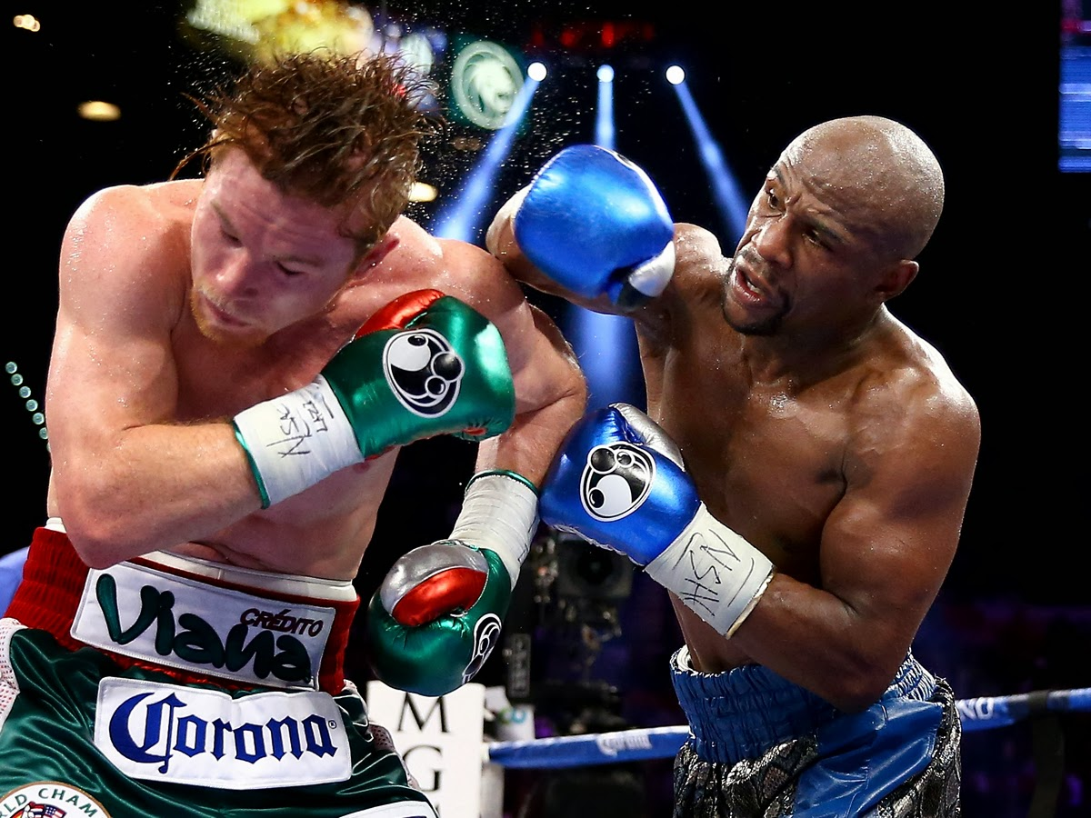 832ab296714 Mayweather whips Canelo as predicted
