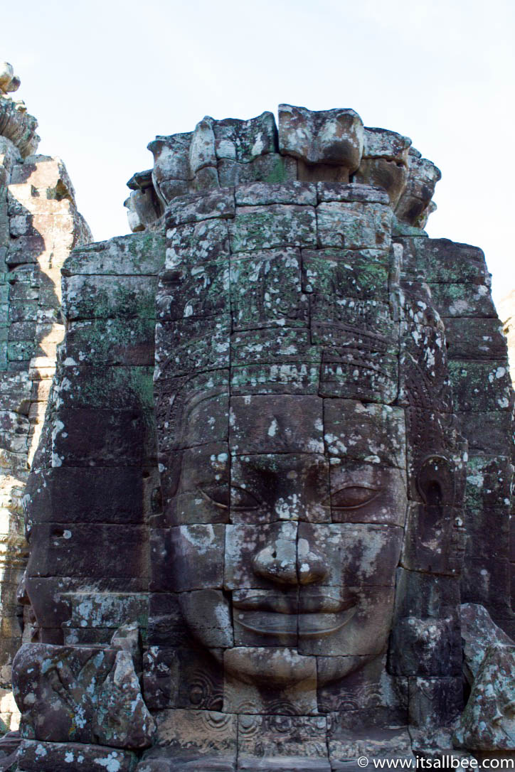 Guide to visiting Bayon Temple, one of Angkor Wat's most amazing temple. Plus tips on the best temples to visit in Siem Reap in Cambodia. #asia #traveltips #adventure #itinerary #letsgo