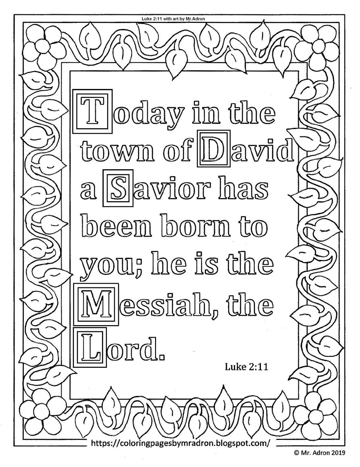 coloring pages for kids by mr. adron: free christmas print