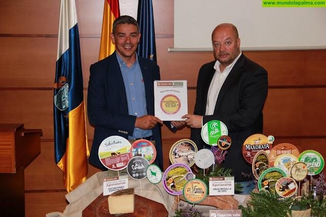 La Pastorcita de oveja añejo untado con gofio, de Ganadería La Pared, elegido Mejor Queso de Canarias 2019