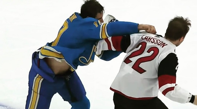 Blues Coyotes NHL Hockey Fight