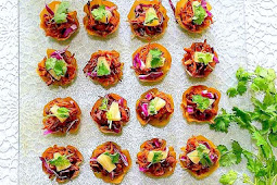 Sweet & Sour Pulled Chicken in Wonton Cups