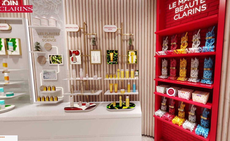 revue beauté virtual store boutique clarins