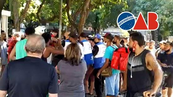policiais agridem jornalista advogada entregadores oab