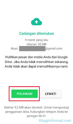 Restore data whatsapp
