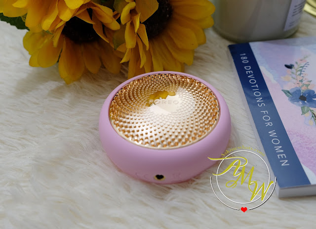 FOREO UFO Review with before and after photo of skin