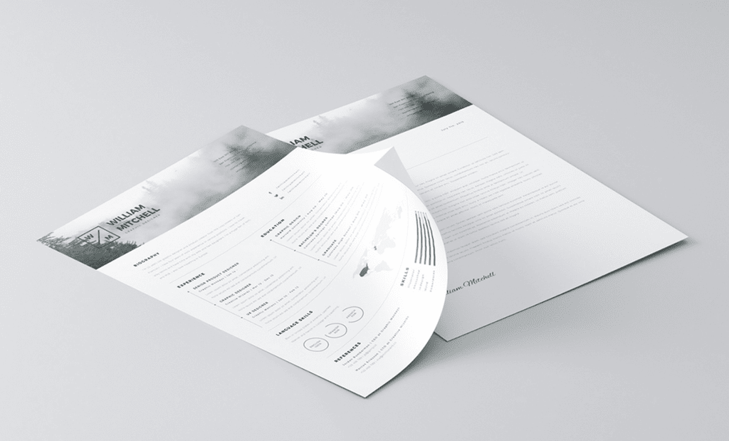 download 5 template psd resume modern gratis