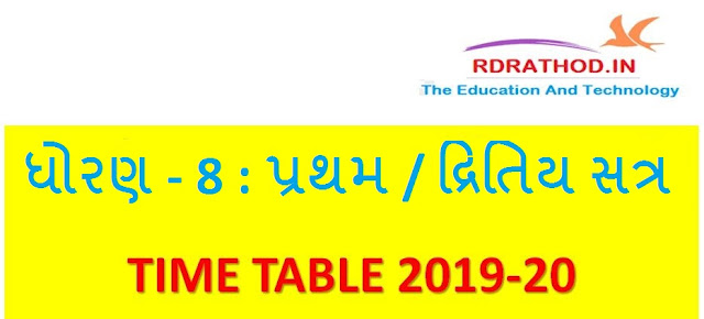 STD 8 NEW TIME TABLE | TAS PADHDHATI MUJAB NEW TIME TABLE 2019