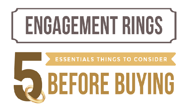 Engagement Rings – 5 Essentials Things to Consider Before Buying #infographic