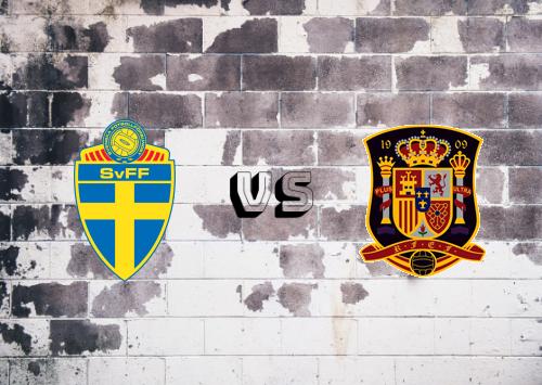 Suecia vs España  Resumen y Partido Completo