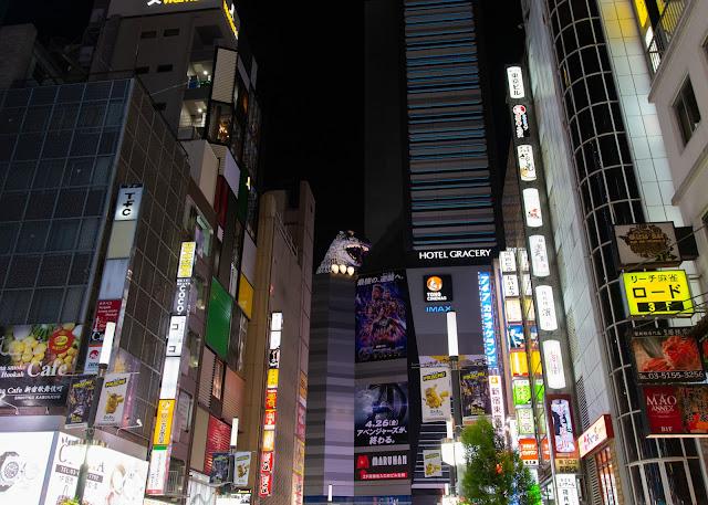 Godzilla at the Gracery Hotel, Shinjuku Tokyo
