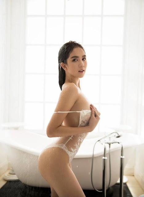 Ngọc Trinh khỏa thân trong bồn tắm, dân mạng chỉ quan tâm ai là người chụp loạt hình này!