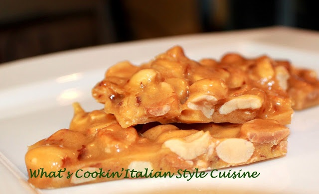 this is a photo of peanut brittle