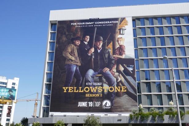 Giant Yellowstone season 2 billboard