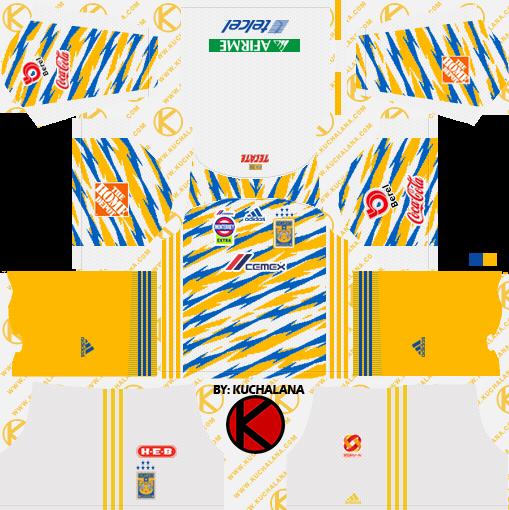 Tigres UANL 2018/19 Kit - Dream League Soccer Kits - Kuchalana
