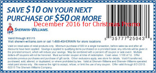 Sherwin Williams coupons december